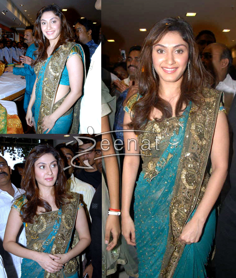 Party Wear Indian Green Saree