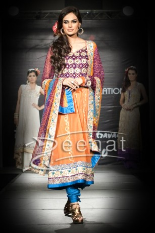 Mehreen Syed Embroidered Anarkali Suit