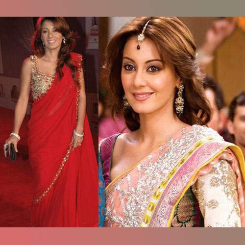 Bollywood Hot Sarees On Minissha Lamba