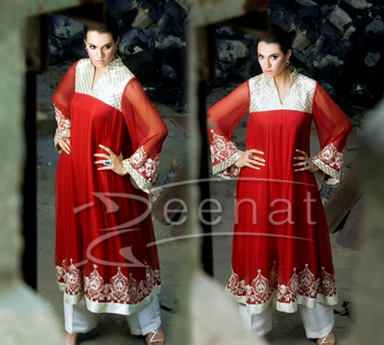 Pakistani A-Line Kameez and Trouser