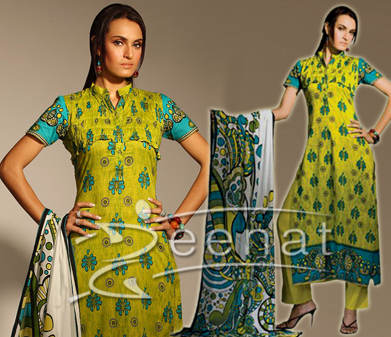 Gul Ahmed's Printed Lawn Suit