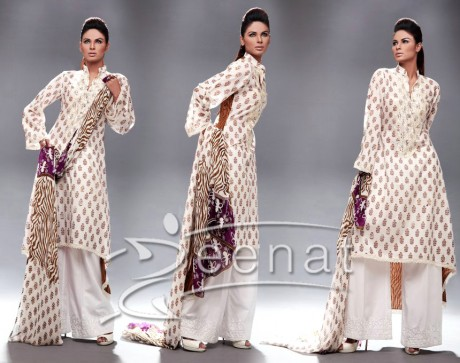 Neha Ahmed In A-Line Parallel Suit Kameez