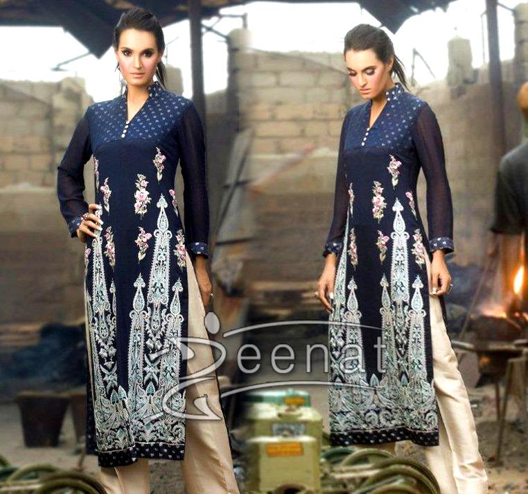 Pakistani Capri Pajama Suit On Nadia Hussain