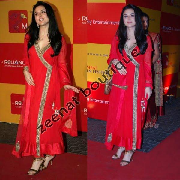 Preity Zinta In Angrakha Style Anarkali