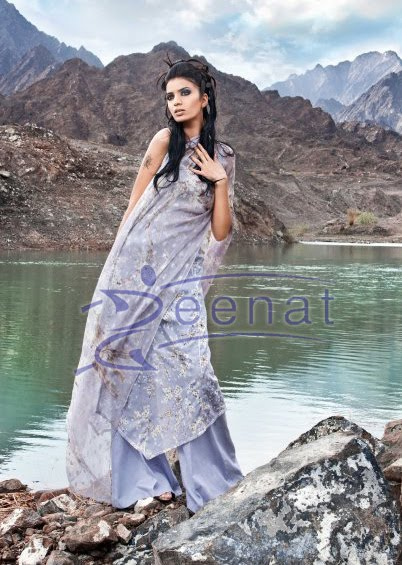 Rabia Butt Parallel Printed Suit
