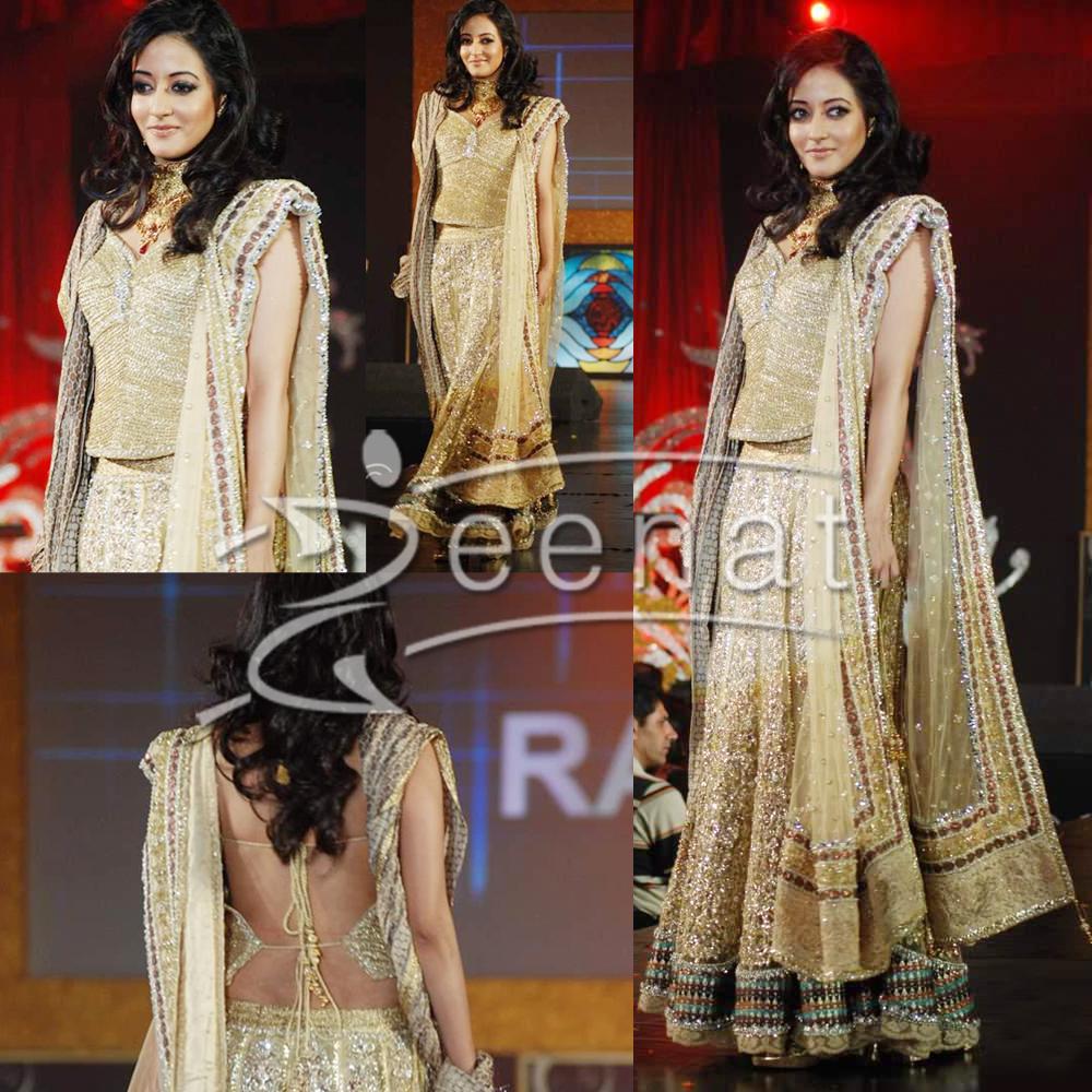 Raima Sen In Backless Designer Choli