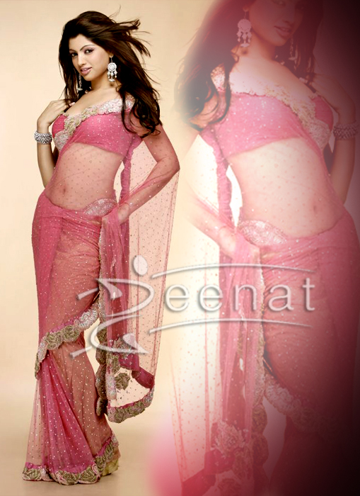 South Indian Akansha Pink Saree