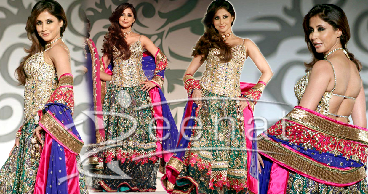 Embroidered Bridal Lehenga Choli Style