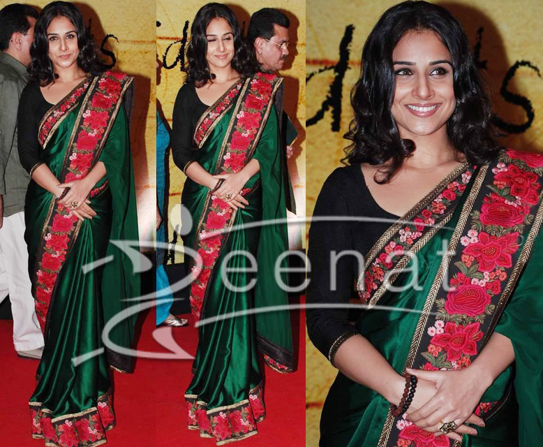 Vidya Balan Bollywood Indian Saree Style
