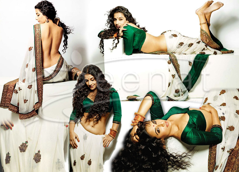 Vidya Balan Hot Indian Saree Style