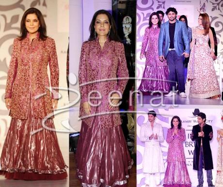 Zeenat Aman Designer Top Sharara
