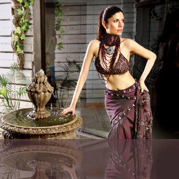 Aleena Khan In Pakistani Designer Saree
