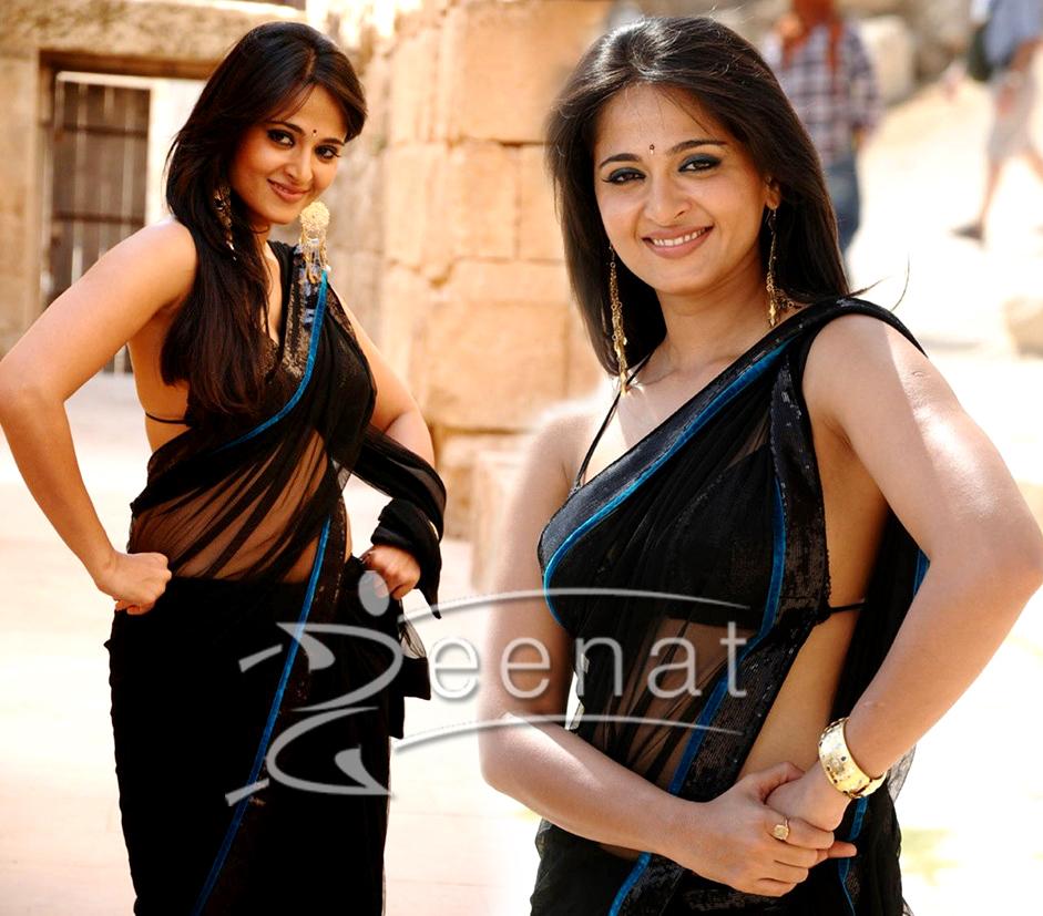 Anushka Shetty In Sizzling Black Saree | Zeenat Style