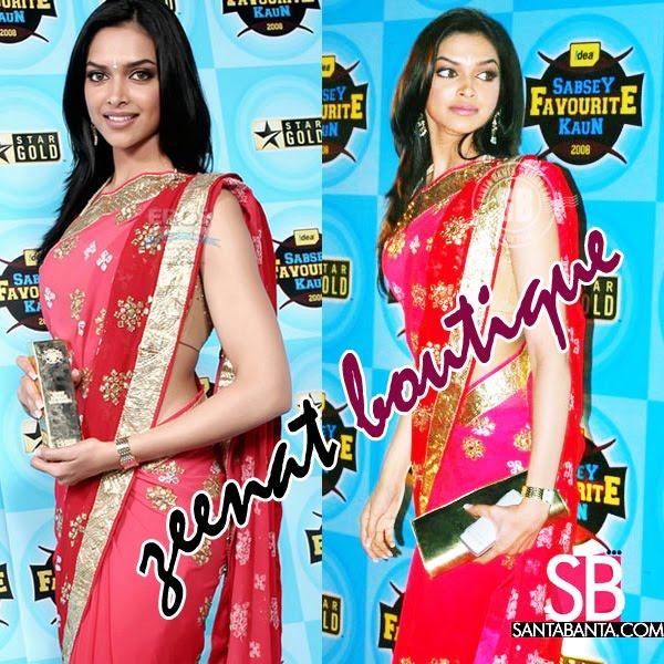 Deepika In Red Hot Indian Saree
