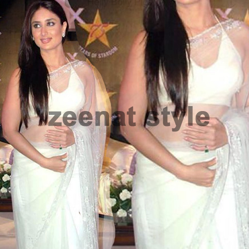 Kareena Kapoor Hot White Saree