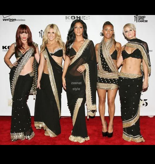 PussyCat Dolls In Bollywood Saree Fashion