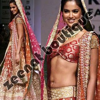 Sameera Reddy Wedding Lehenga Choli