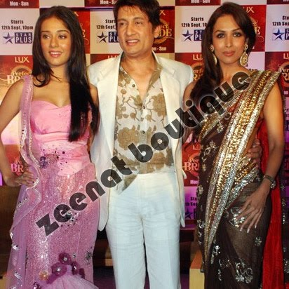 Malaika Arora And Amrita Rao In Designer Collection