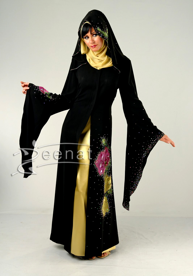 Designer Pointed Sleeves Abaya Fashion