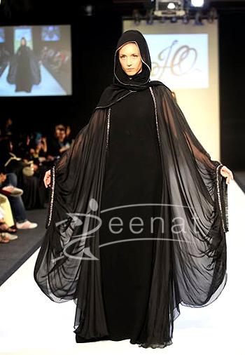 Full Black Designer Sleeves Abaya | Zeenat Abayas