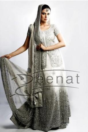 Aleena Khan In White Bridal Lehenga
