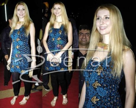 Claudia Cielsa In Churidar Salwar Kameez Designs