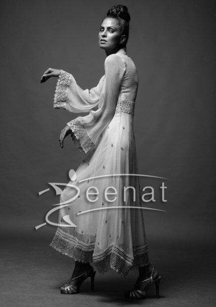 Fauzia Amir In Artistic Anarkali Churidar Style
