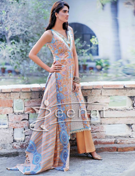 Fiza Ali Parallel Printed Dress