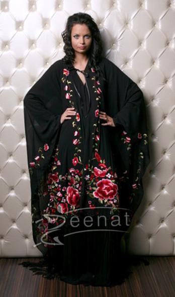 Full Embroidered Abaya Design