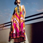Printed Sleeveless Parallel Dress | Mahnoush Summer Collection 2011
