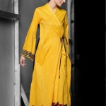 Angrakha Style Long Top | Mahnoush Summer Collection 2011