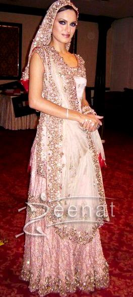 Nadia Hussain Pakistani Wedding Lehenga Choli