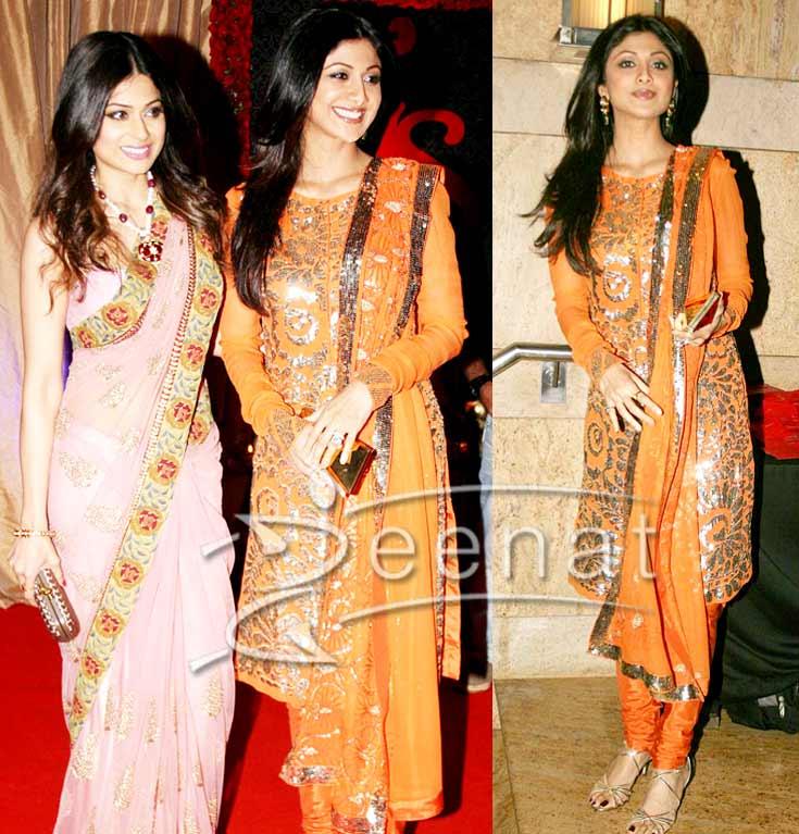 Shilpa Shetty Indian Churidar Salwar Kameez