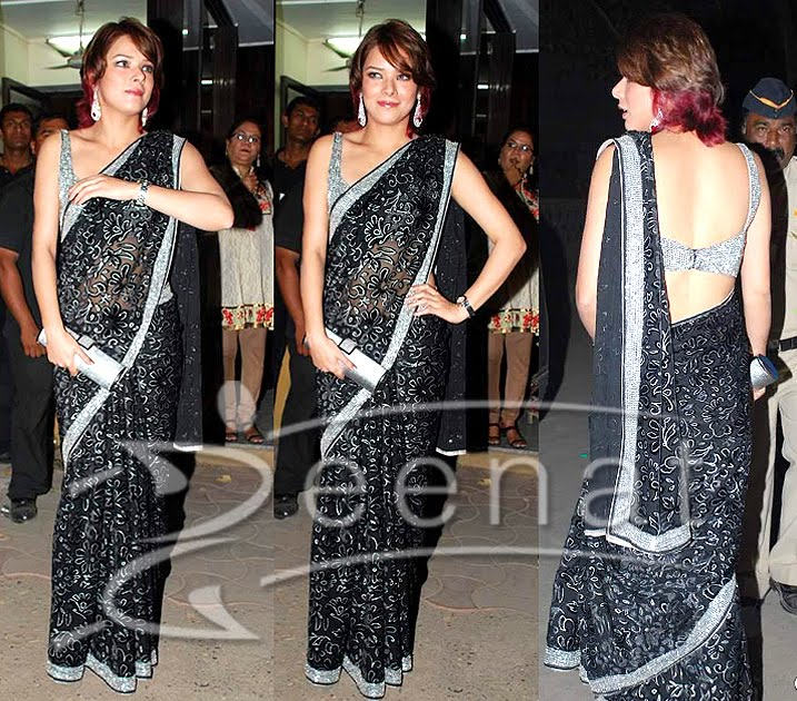 Udita In Bollywood Designer Saree
