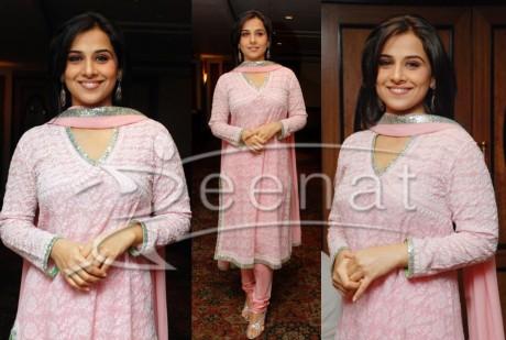 Vidya Balan Indian Pink Churidar