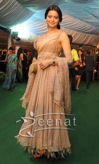 Aamna In Designer Anarkali Dress