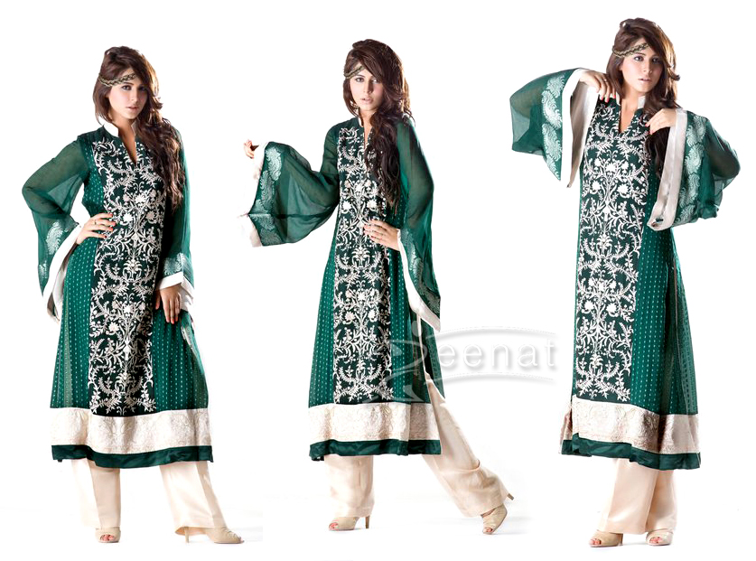 Ayyan In Threads And Motifs A-Line Kameez