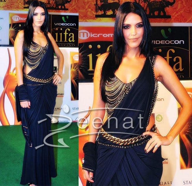 Neha In Draped Designer Pallu