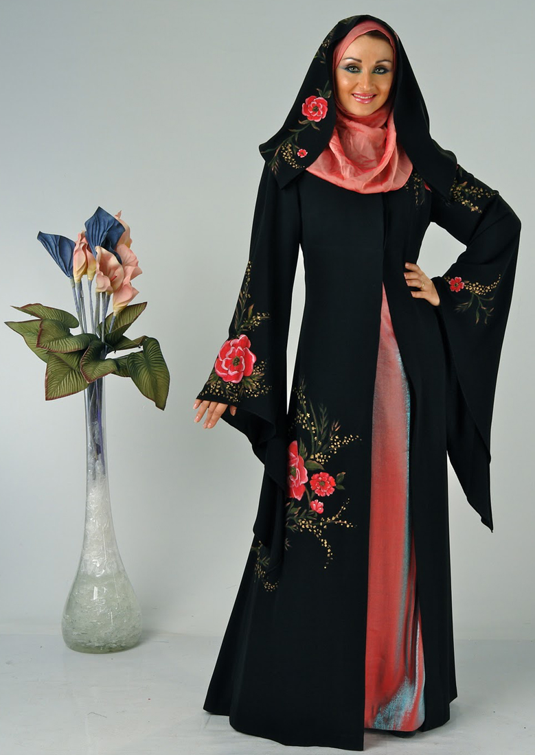 Pointed Sleeves Abaya Design
