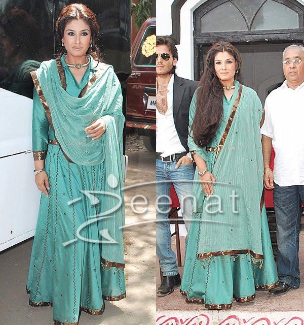 Raveena Tondon In Indian Lehenga Choli