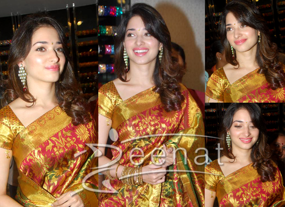 Tamanna In Indian Pattu Saree