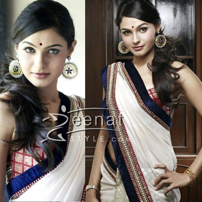 Andrea Jeremiah | South Indian Laced Sarees