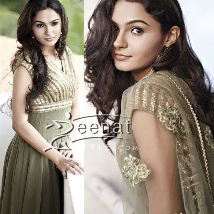 Andrea Jeremiah In South-Indian Churidars