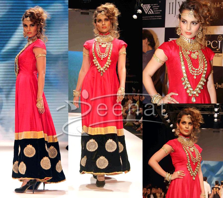 Kangana Ranaut In Designer Frock At IIJW
