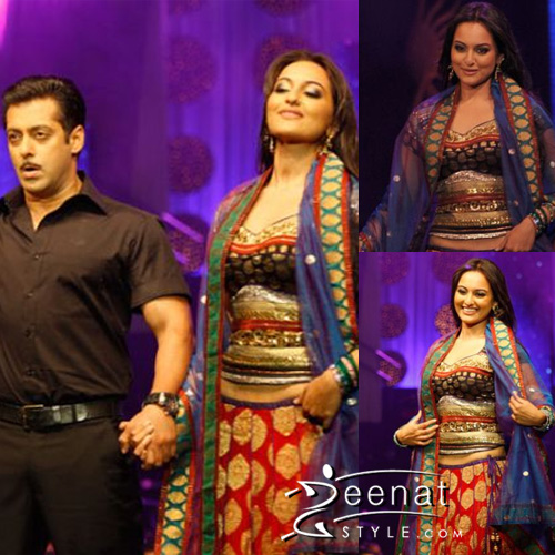Salman Khan and Sonakshi at Colombo IIFA Fashion Show