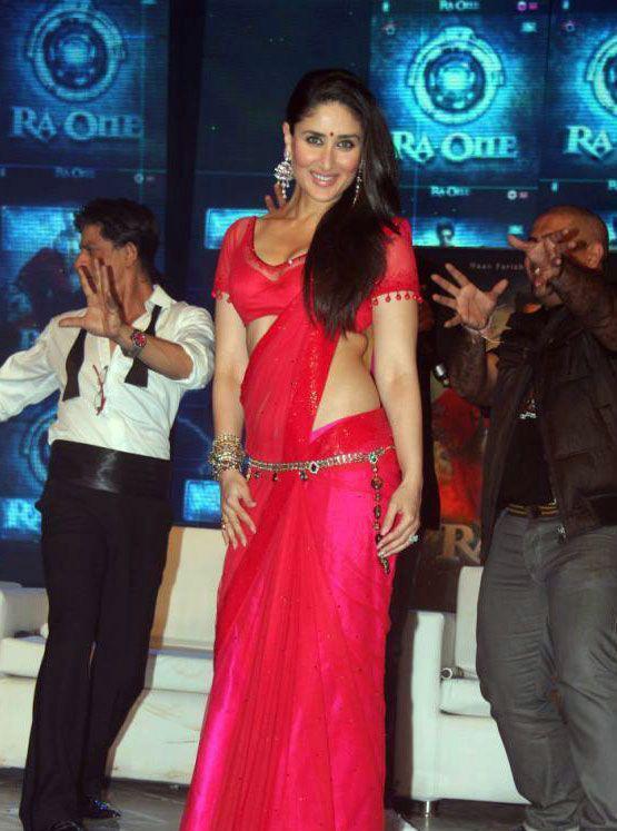 Kareena In Bollywood Sarees Jewelled Waistline