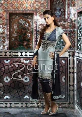 Aleena Khan Capri Embroidered Style