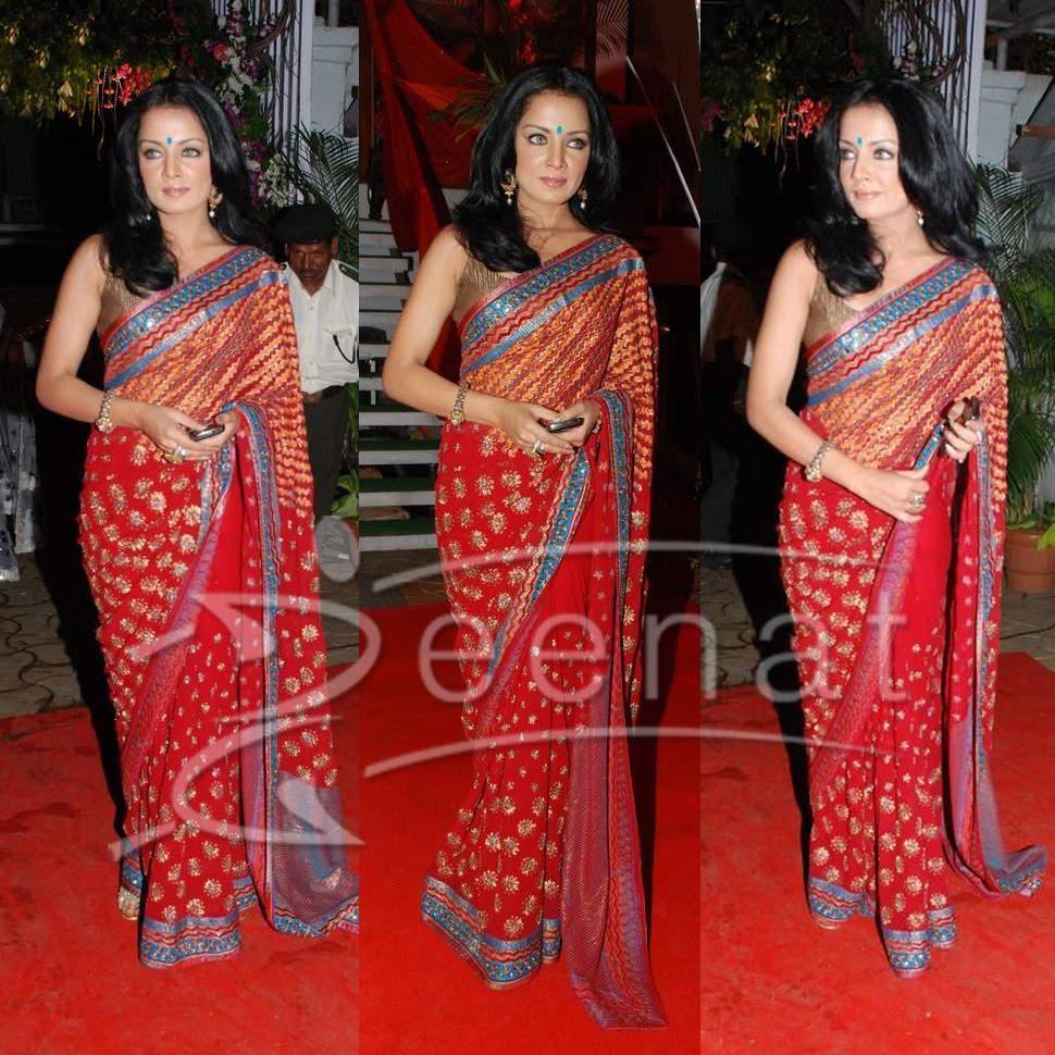 Celina Jaitley Indian Banarsi Sarees