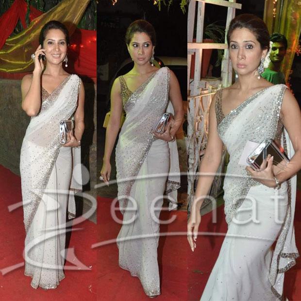 Kim Sharma In Designer Saree