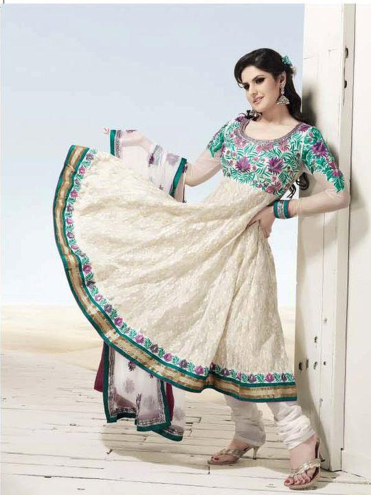 Zarine Khan Indian Anarkali Salwar Kameez